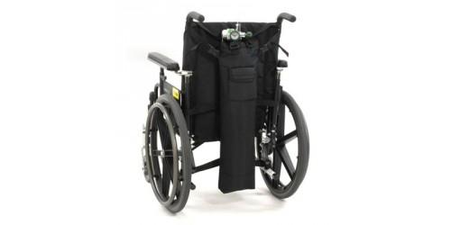 Sac de transport des cylindres d'oxygène pour fauteuil roulant